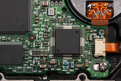 Chips on the printed-circuit-board Royalty Free Stock Photos