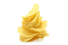 Chips pyramid. On the white background Royalty Free Stock Photo
