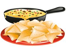 Chips and Queso Royalty Free Stock Photo