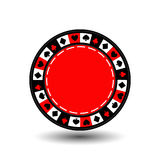 Chips red for poker an icon on the white isolated background. illustration eps 10 . To use  the websites, design, the press, Royalty Free Stock Images