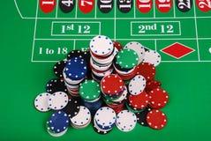 chips rouletten arkivbild