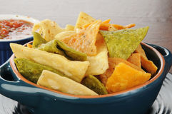Chips an salsa Royalty Free Stock Image