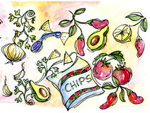 chips salsa Arkivbild