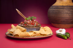 Chips and salsa. Stock Photography