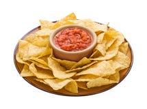 chips salsa för clippingbana Fotografering för Bildbyråer