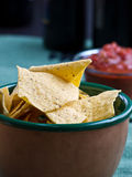 Chips and Salsa Snack Stock Photos