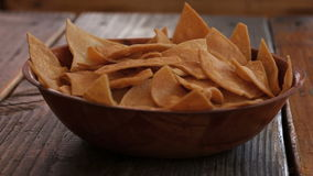Chips and salsa in a table. Stock Image