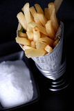 Chips with salt royalty free stock image
