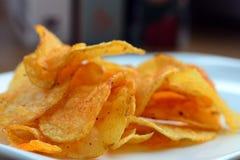 Chips savoureux Photos stock