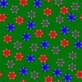 Chips Seamless Pattern coloré par plastique de jeu Photo libre de droits