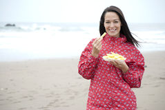 Chips at the seaside Royalty Free Stock Images