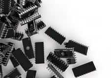 Chips spill. 3D render of computer chips Vector Illustration