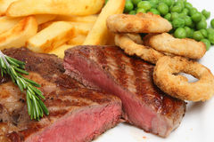 chips steak royaltyfria bilder