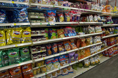 Chips on store shelves Stock Photography