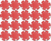 Chips texture. Gambling chips forming a pattern Stock Photos