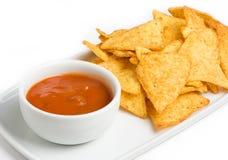chips tortillaen Arkivbilder