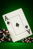 Chips and two aces Stock Images