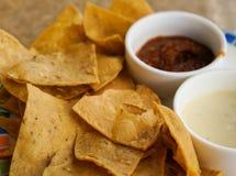 Chips und Bäder Stockbild