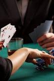 Chips und Karten Lizenzfreie Stockfotografie