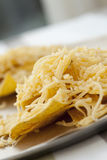 Chips und Käse Lizenzfreie Stockfotos
