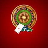 Chips und Roulette Stockbild
