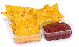 Chips und Salsa lizenzfreie stockfotos