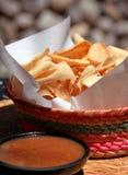 Chips und Salsa Stockbild