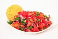 Chips und Salsa stockbilder