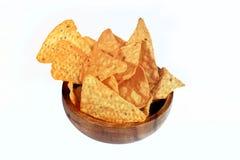 Chips und Soßen stockbild