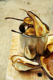 Chips von getrockneten Birnen Lizenzfreies Stockbild