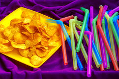 Chips for weekend enjoyment. And relaxation Stock Images