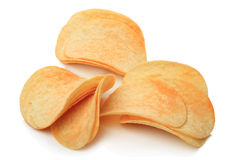 Chips on a white Stock Photography