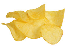 Chips on a white background Stock Photo
