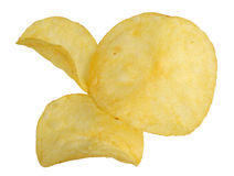 Chips on a white background royalty free stock photos
