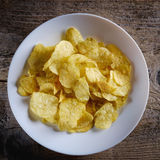 Chips in a white plate Royalty Free Stock Photography