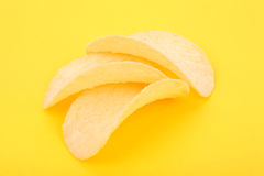 Chips on the yellow Royalty Free Stock Photo