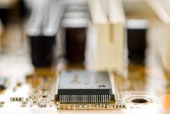 Chipset auf Leiterplatte lizenzfreies stockfoto