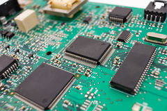 Chipset background, macro Stock Photo