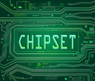 Chipset concept. Stock Photo