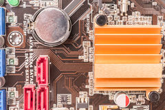 Chipset Heatsink On Motherboard Stock Photos