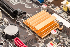 Chipset Heatsink On Motherboard Stock Photo