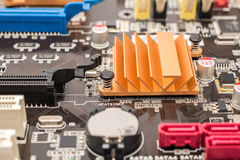 Chipset Heatsink On Motherboard Stock Image