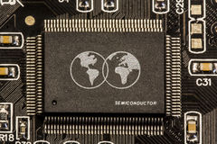 Chipsetavgörande - världsförlage Arkivfoton