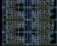 Chipteilplan Stockbilder