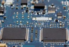 Chipy Komputerowi na obwód deski zakończeniu Up zdjęcia stock