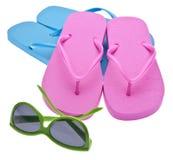 Chiquenaudes et lunettes de soleil de chiquenaude Photographie stock
