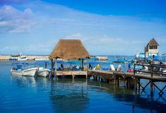 Chiquila port in Quintana Roo Mexico Royalty Free Stock Images