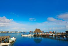 Chiquila port in Quintana Roo Mexico Royalty Free Stock Photos