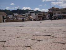 Chiquinquirà ¡是一个镇和自治市在Boyacà ¡的哥伦比亚的部门 免版税库存图片