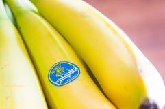 Chiquita bananer Arkivfoton